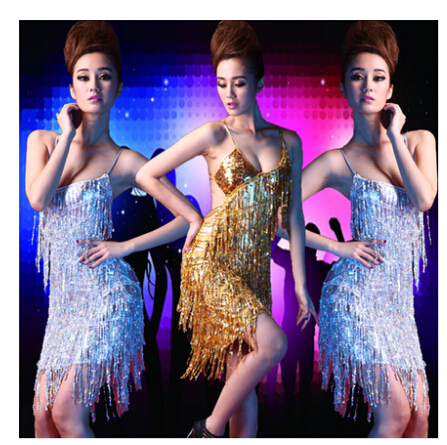 Sexy latin dance sexy sequined tassels latin dance costumes nightclub ds costumes stage costumes