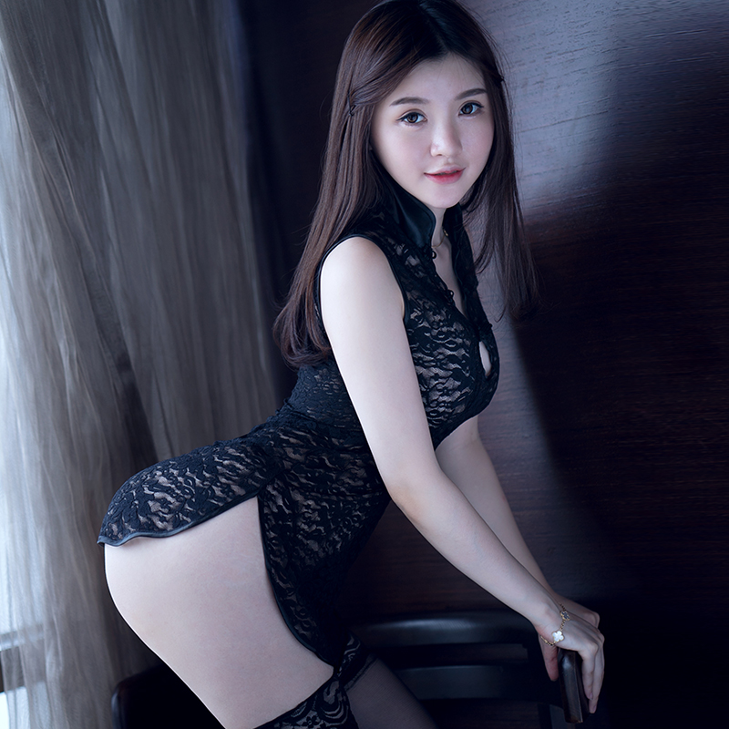 Sexy lingerie female transparent lace dress sexy female real big yards pajamas sao suit uniform temptation