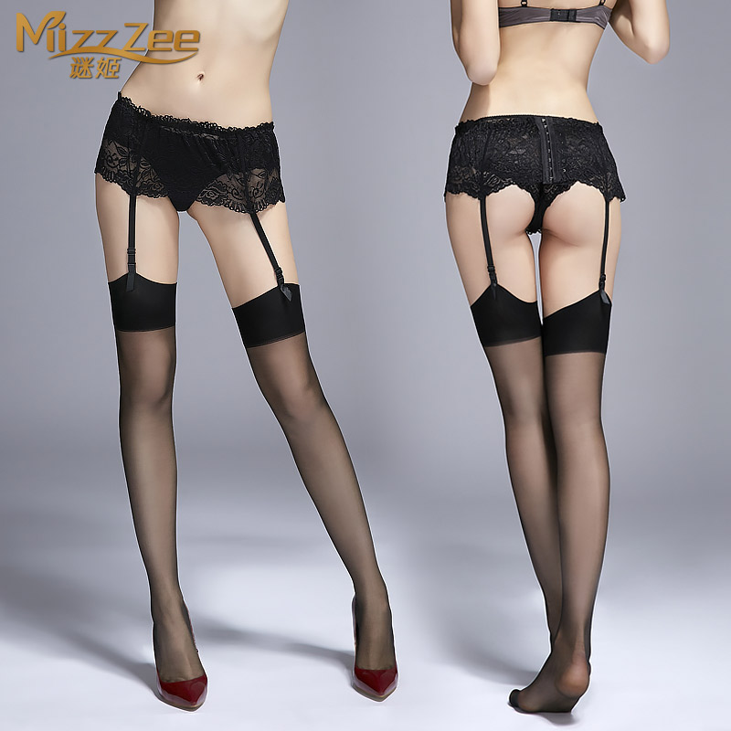 Sexy lingerie lace suspenders sexy stockings female sao perspective extremely uniform temptation black silk stockings garters 8409