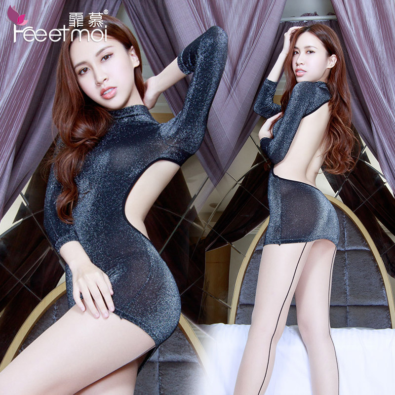 Sexy lingerie pajamas female summer ice silk suspenders contains adult sexy underwear spring and autumn big yards tracksuit new