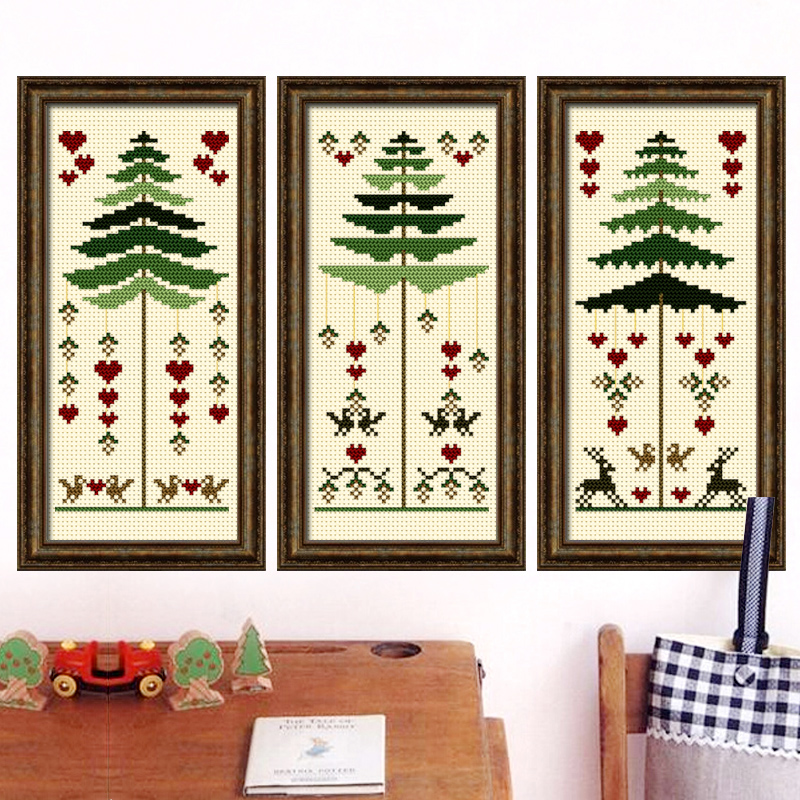 Shang century stitch dmc cross stitch new living room paintings beautiful living room bedroom fresh christmas heart tree magazine