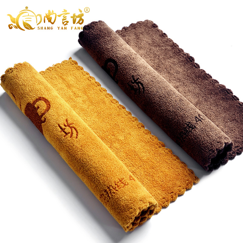 Shang yan fang kung fu tea accessories tea thick strong absorbent cotton tea towel tea towel tea towel tea cloth tea towel