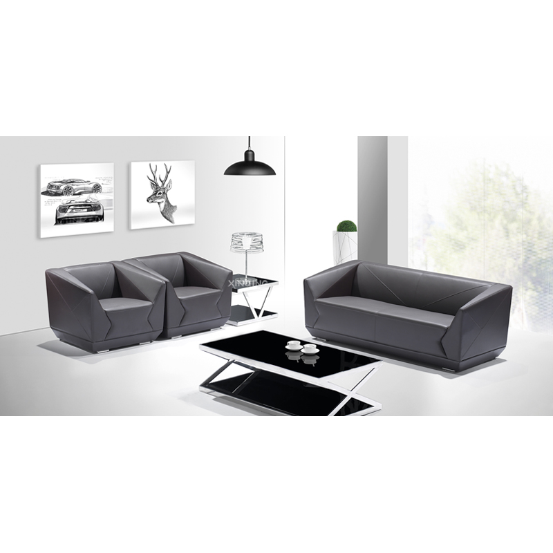 [Shanghai factory outlets] generous fashion office sofa reception sofa sofa coffee table office furniture