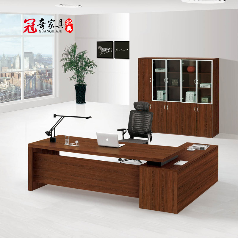 Shanghai guanqi boss table desk office furniture modern minimalist fashion desk manager desk desk desk supervisor