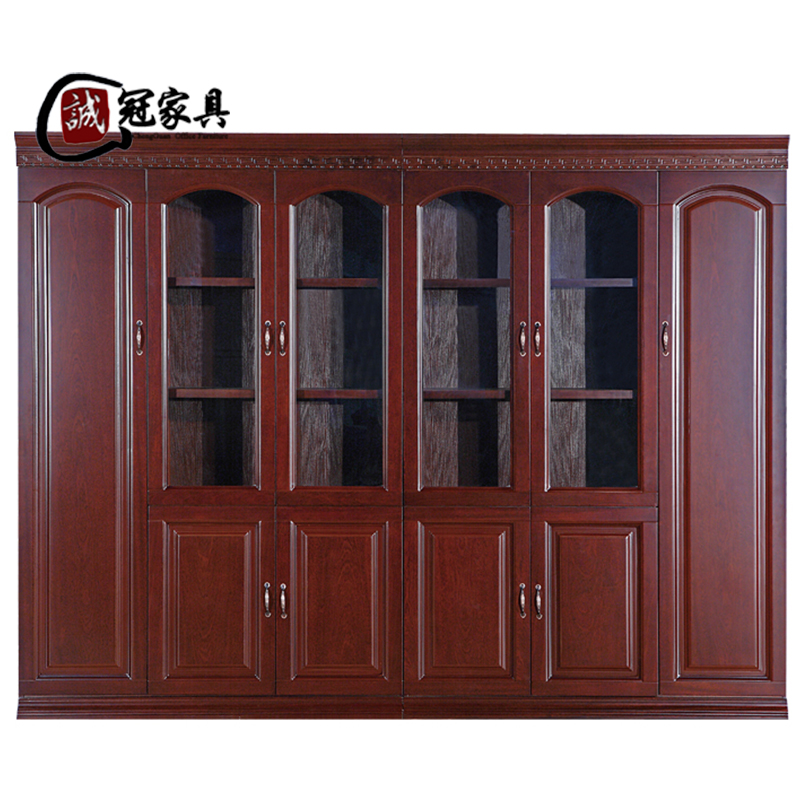 Get Quotations Shanghai Office Furniture 6 Door Paint Wood Veneer Bookcase Bookshelf Cabinet Combination Floor Data