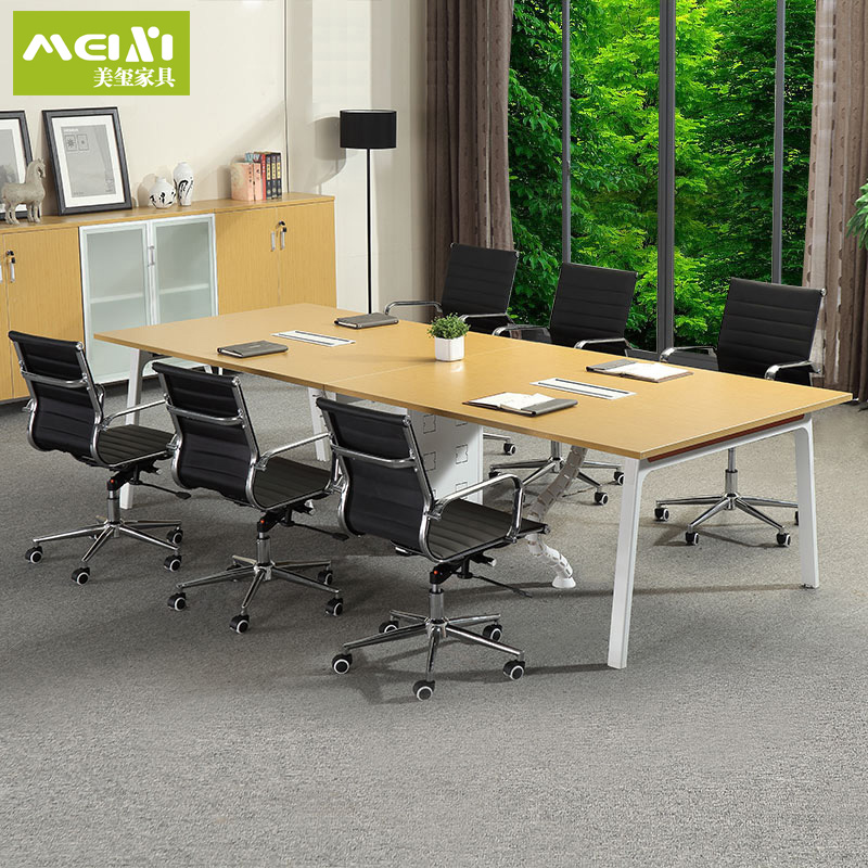 Shanghai office furniture conference table conference table minimalist modern training of employees plate office conference table to negotiate a long table and chairs