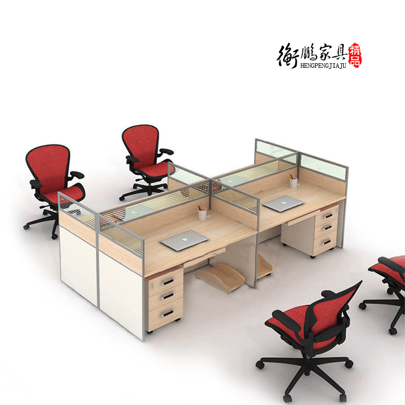 Shanghai office furniture modern minimalist fashion four wall panels combination of computer staff working office furniture
