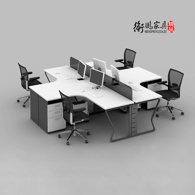 Shanghai office furniture office furniture screen staff four digit combination work desk staff tables minimalist black and white