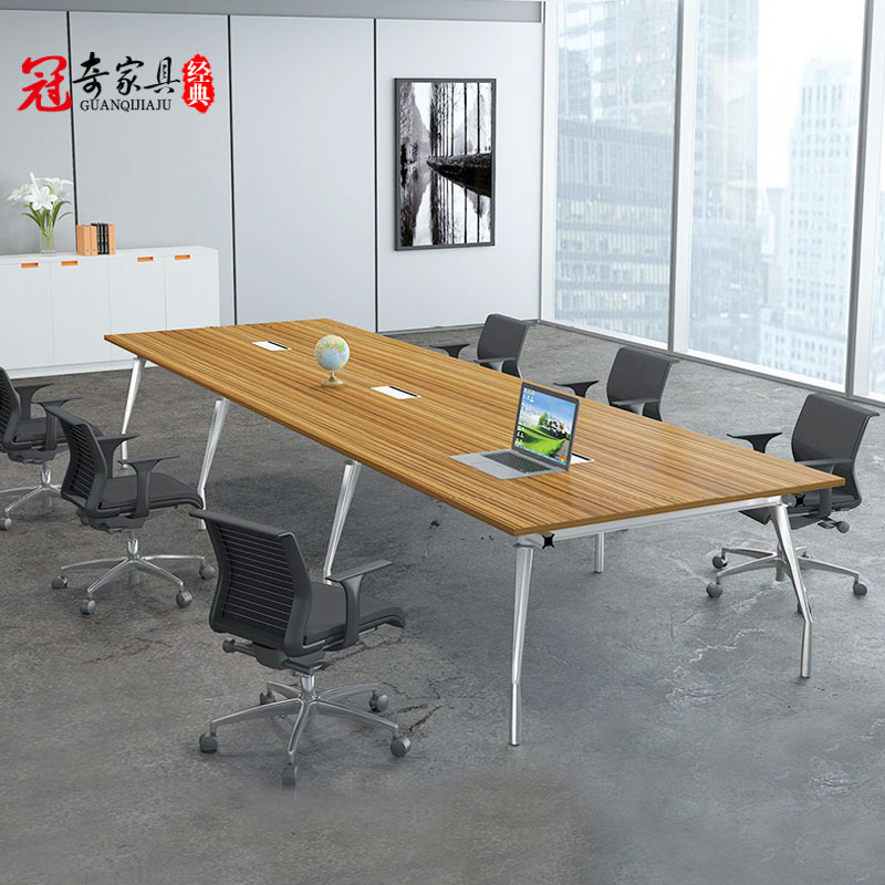 Shanghai office furniture simple bar minimalist modern conference table conference table conference table negotiating table plate customization