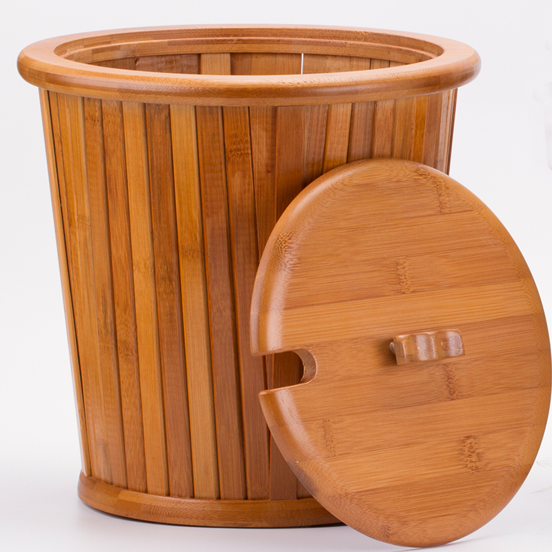 Shanghai royal goods bamboo waste bucket bucket bucket plastic trash barrel drain barrel detong tea leaves tea tray with zero parts