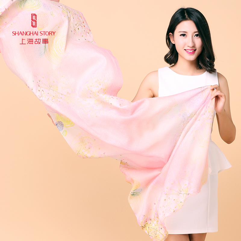 Shanghai story wool scarf shawl ms. autumn and winter warm scarf long paragraph two with overfilled