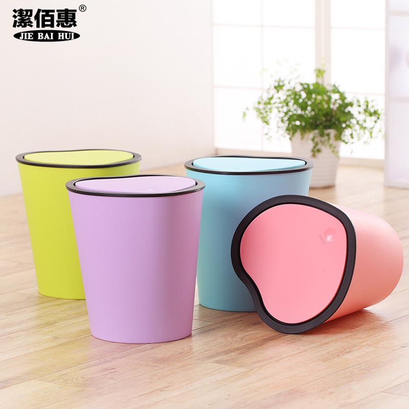 Shaped trash creative household toilet kitchen bathroom trash can with a lid office dustbin lid tuba