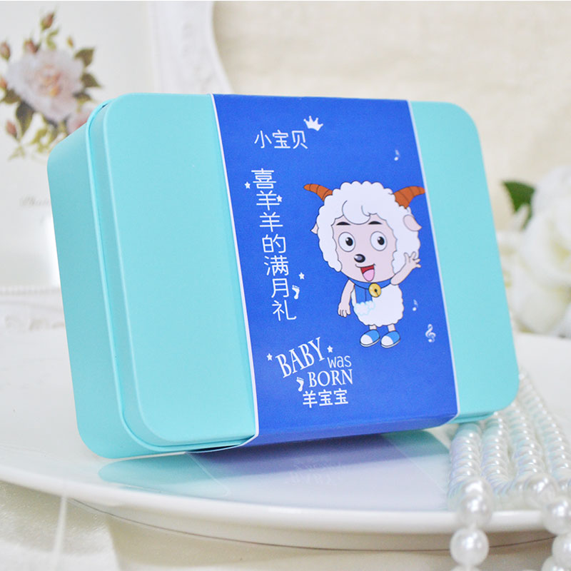 Sheep baby baby candy box candy box full moon cake gift xidan born birthday gift refined sugar