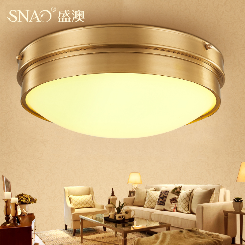 Sheng australia american country cozy bedroom lamp led ceiling lamps modern minimalist circular balcony aisle corridor