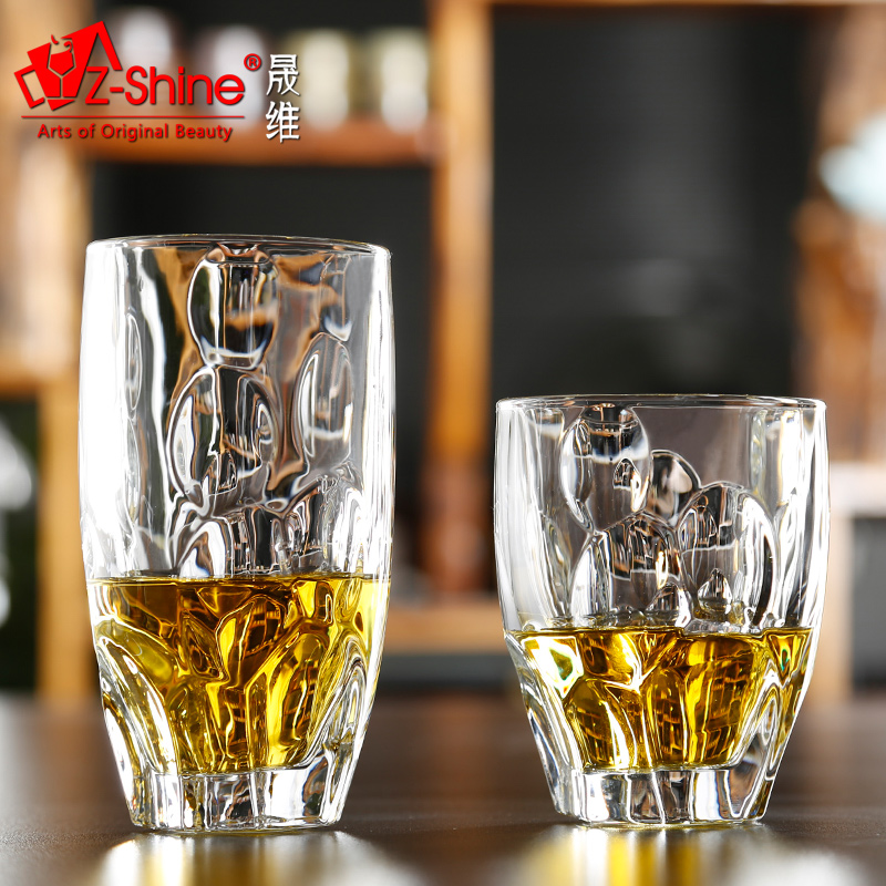 Sheng dimensional z-shine creative crystal glass round creative glass of whiskey cup glass beer mug cup juice cup