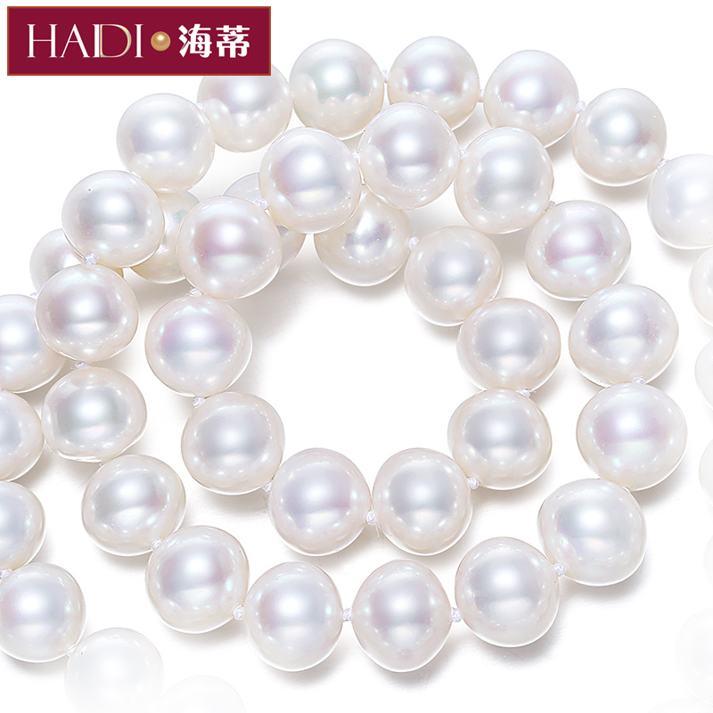Sheng love super bright glare nearly perfect circle jewelry days hildy however pearl necklace for her mother genuine s925 silver buckle