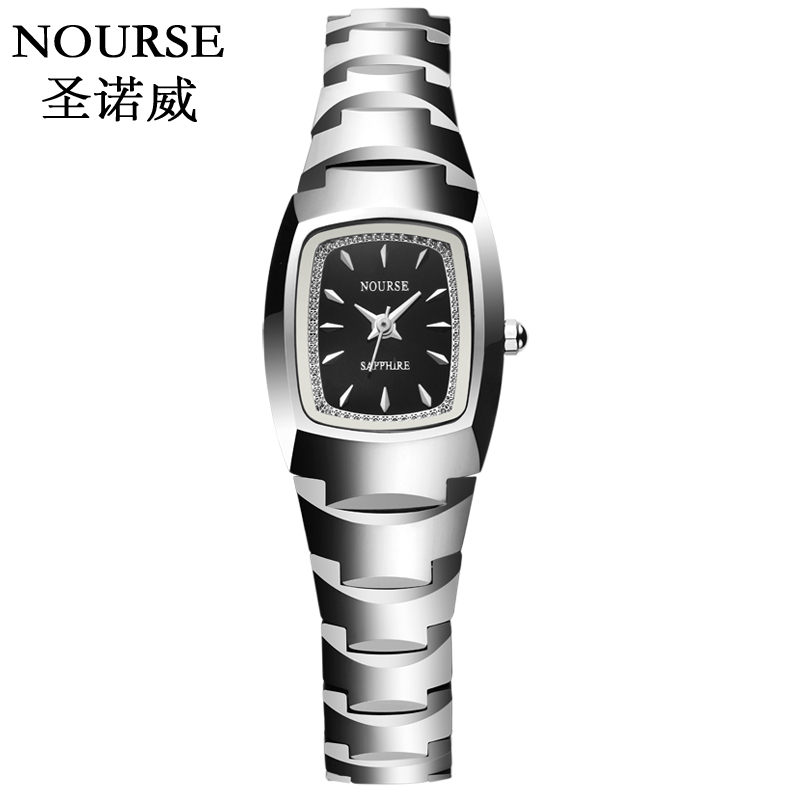Shengnuo wei authentic thin tungsten steel watches ladies quartz watch waterproof fashion watch retro fashion trend female form