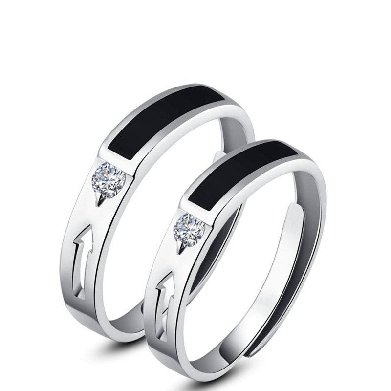 Shi jing fashion 925 silver couple rings on the ring opening seiko hundred percent silver rings girlfriend birthday gift