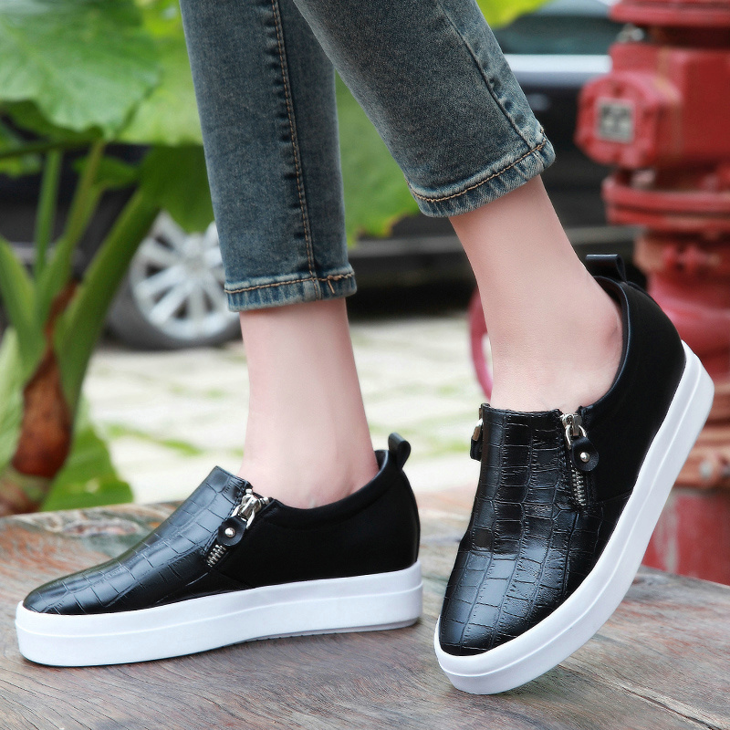 Shield fox 2016 spring shoes increased within the new round deep mouth thick crust carrefour shoes women shoes casual shoes women shoes a pedal