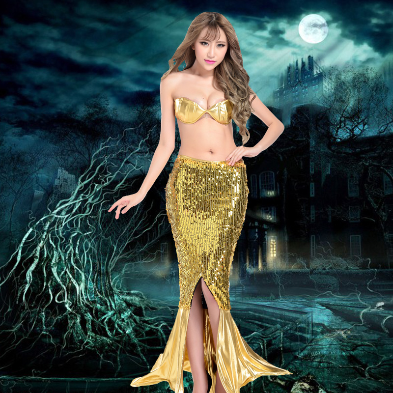 8e7823d1f51 Get Quotations · Shiny mermaid dress sexy evening dress party dress costumes  role playing mermaid