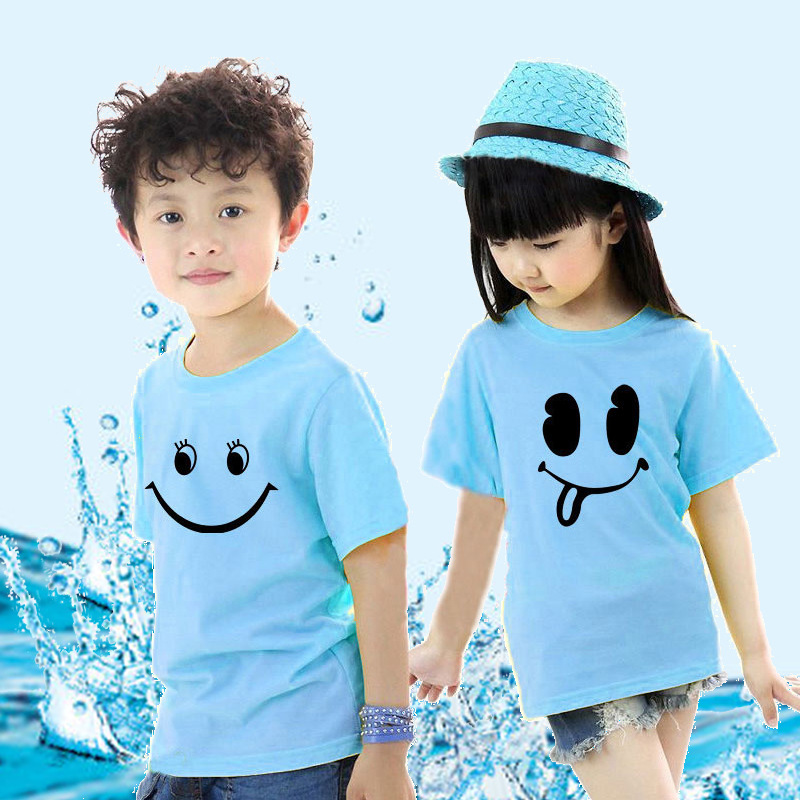 Shirt cotton t-shirt funny t-shirt class service groups of children in kindergarten children's clothing printed map printed photo diy short sleeve custom