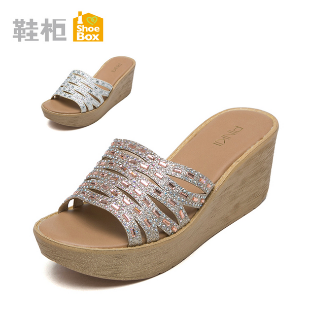 Shoebox shoe daphne female outer wear slippers sandals and slippers female summer fashion sandals and slippers 2016 outdoor closeouts