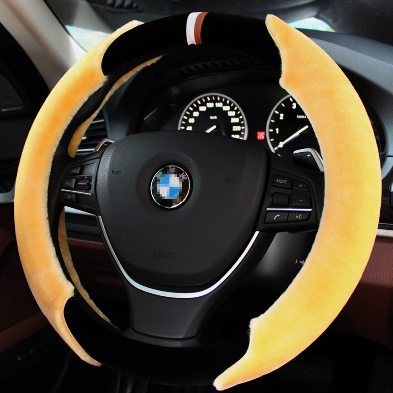 Short plush winter car steering wheel cover to cover applicable rong put new highlander toyota rav4 corolla reiz