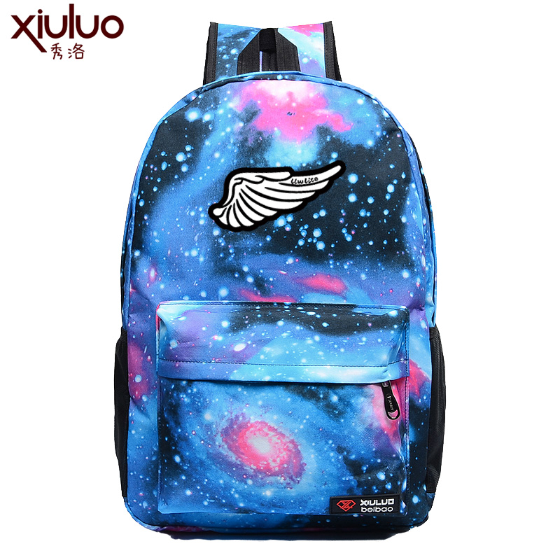 Show luo harajuku small wings shoulder bag men and women backpack middle  school students book bag c7f6bc9d63c9e