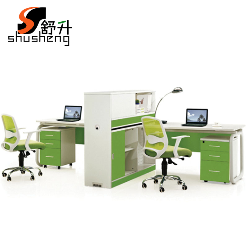 Shu升office furniture desk work place off screen employees niche office furniture combination of 2 people