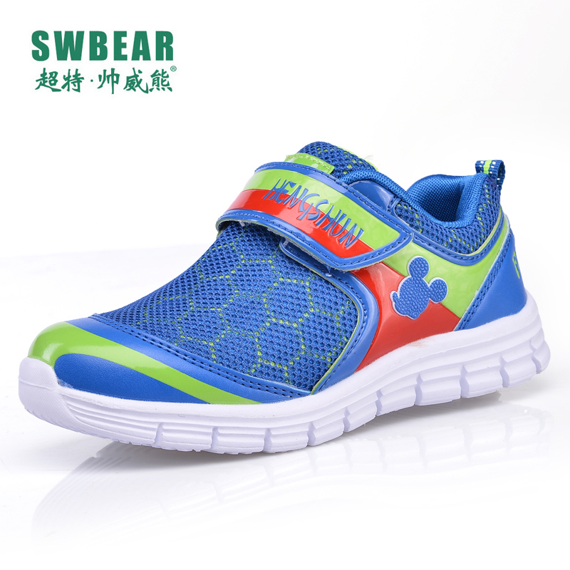 Shuaiwei bear 2016 fall breathable mesh shoes for children big virgin running shoes step shoes boys casual shoes children's sports shoes