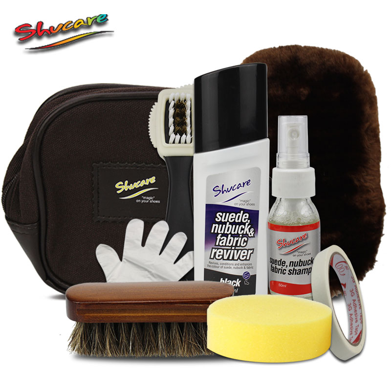 Shucare spray matte suede leather care and cleaning and maintenance kit colorless shoe polish black shoe