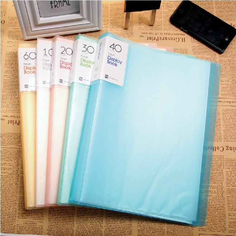Shuter a4 transparent folder insert pocket folders brochure scores brochure 10/20/30/40/60 P