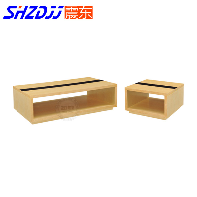 Shzdjj office modern minimalist fashion wood coffee table small square table parlor room double wooden furniture