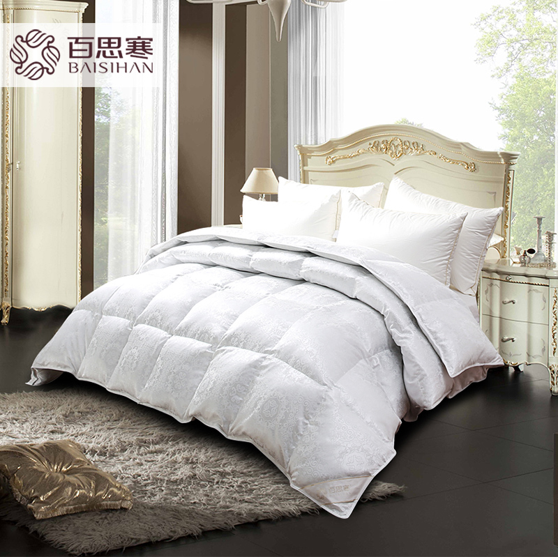 Si han 80 gray duck down duvet winter is double thick warm quilt core genuine special