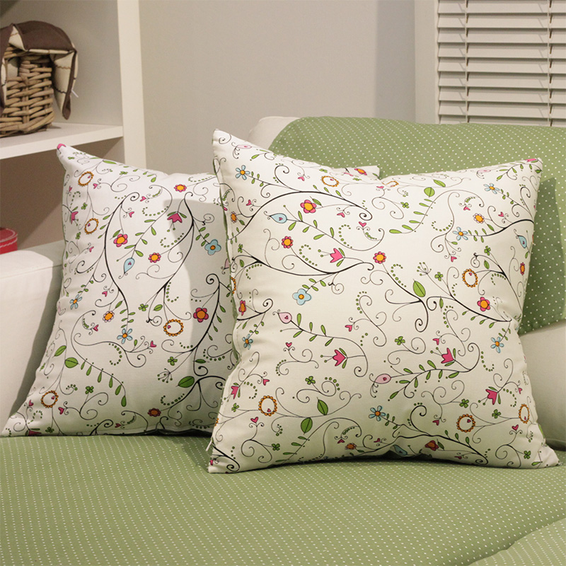 Sided fabric flower bud fresh cotton pillow cover sofa cushion pillow cover cushion sofa cushions can be customized