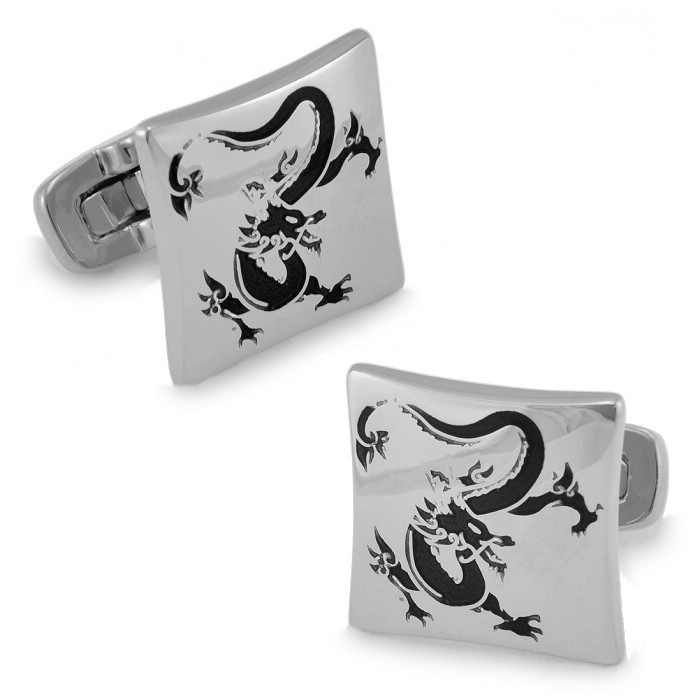 Silver dragon domineering sparda pattern exquisite enamel rhodium cufflinks french shirt cufflinks for men cufflinks cuff
