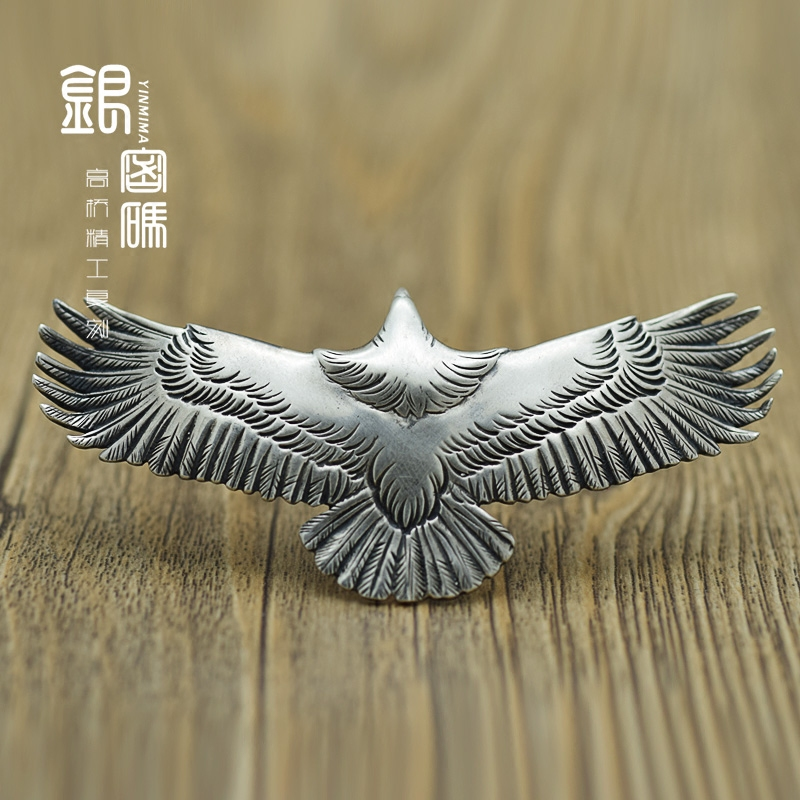 Silver password goro takahashi goro goro eagle necklace jewelry 's engraved pendants boutique