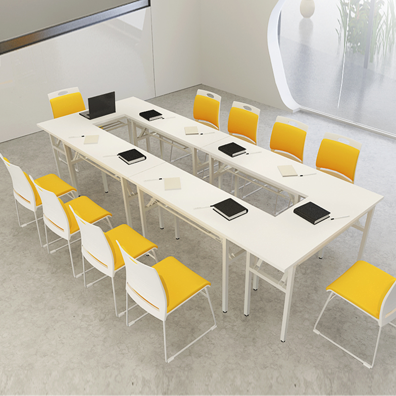 Simple and modern conference table folding training tables and chairs long table long table bar table desk combination