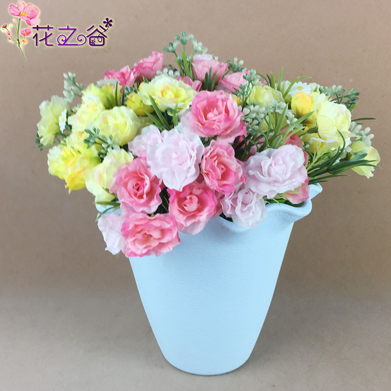 Simulation carnation flower artificial flowers decorate the living room floor decoration dried floral decoration plastic flower gift for her mother