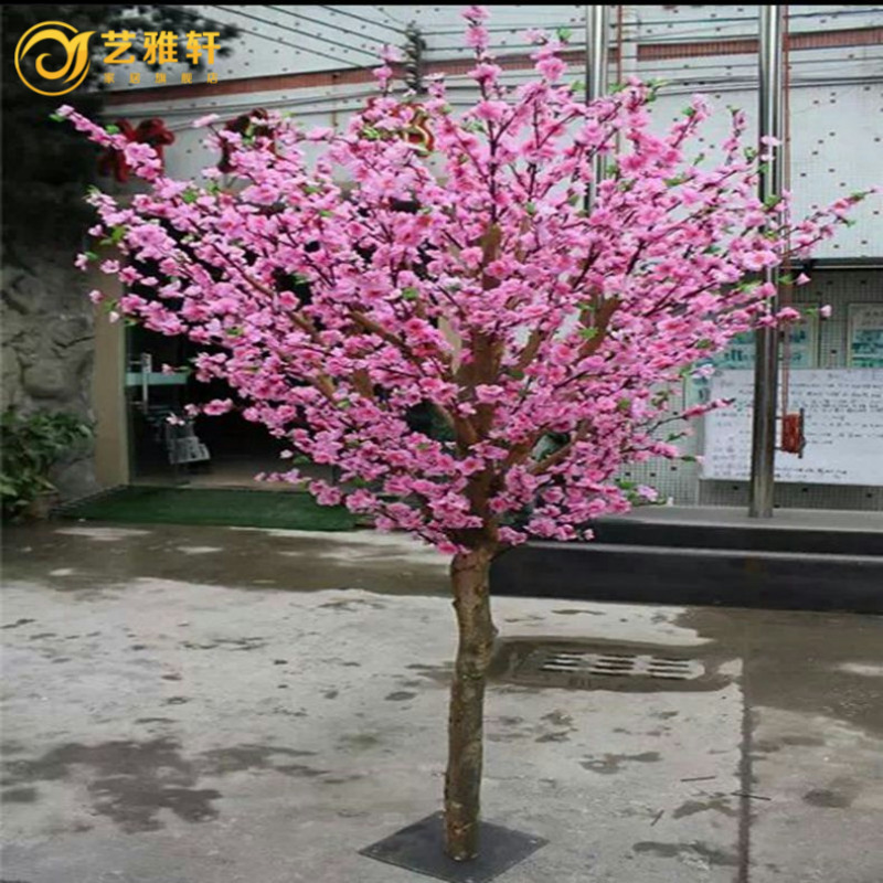 Simulation fake peach tree peach tree simulation of large plants simulation tree cherry plum tree peach tree wishing tree decoration