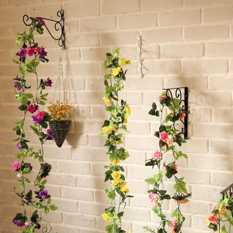 Simulation flower vine flower decoration flower plastic flower artificial flowers decorate the living room air conditioning ducts simulation rattan vines hanging wall flower vine