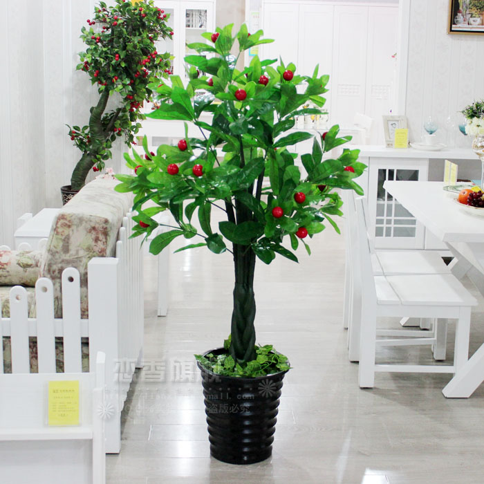 Simulation plastic flowers artificial flowers decorate the living room simulation fake tree tree plant floor 1.6 m pachira auspicious tree