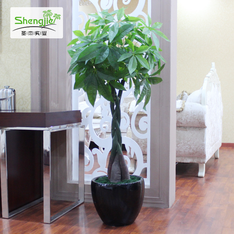 Simulation simulation potted bonsai tree simulation fake tree pachira home office hotel festive green decorative bonsai