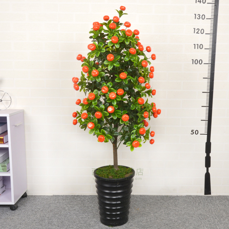 Simulation tree simulation fake tree of good luck home hotel green kumquat orange trees orange trees potted bonsai tree decoration