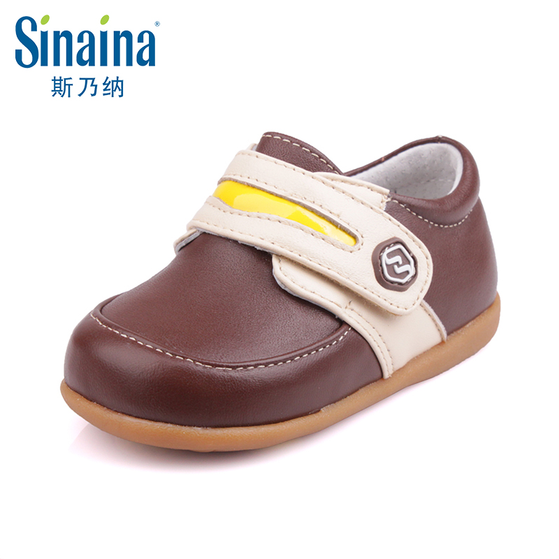 Sinai satisfied shoes 2016 fall new boys leather shoes sheepskin casual shoes children's shoes SP151472B