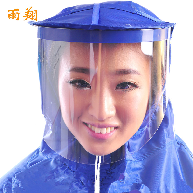 Single motorcycle electric cars raincoat raincoat korean fashion poncho helmet mask plus thick increase