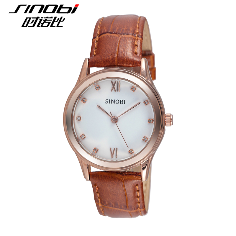 Sinobi when nobby watches female form male table belt couple watches diamond ladies watch leather watch simple student watches