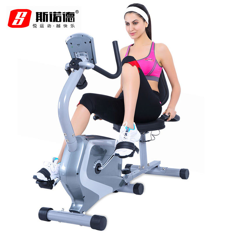 Sinuo de horizontal magnetic exercise bike home exercise bike spinning bike indoor exercise to lose weight ultra quiet mini bike