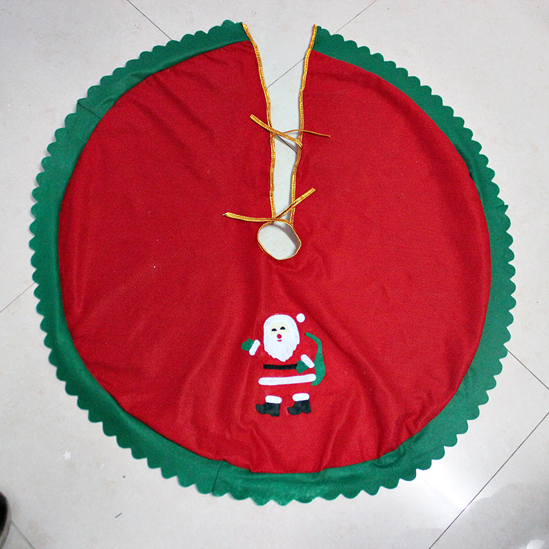 Sitting at the end of christmas tree skirt christmas aprons christmas tree decorations christmas tree group necessities decoration