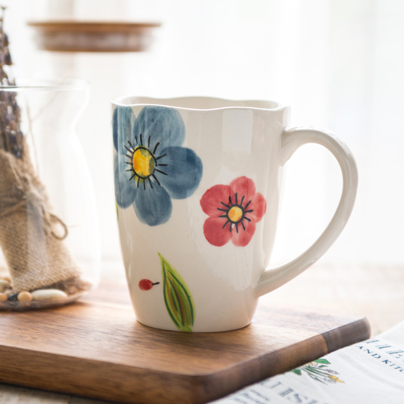 Siv european and american style creative painted ceramic mug cup office drinking cup milk cup of tea cup tuscani